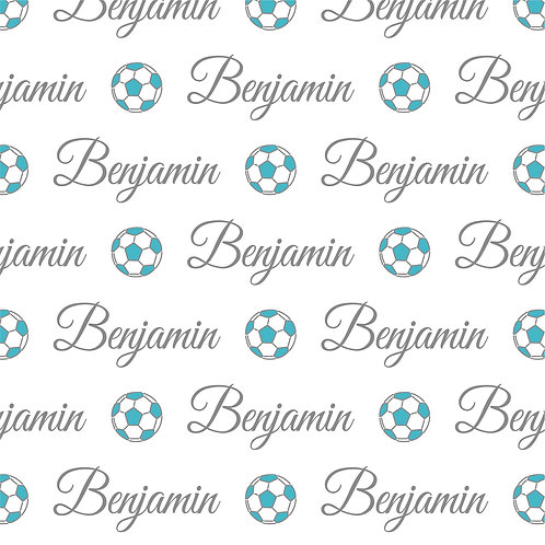 EXPRESS - Manta Plush Bebê - Benjamin /Futebol