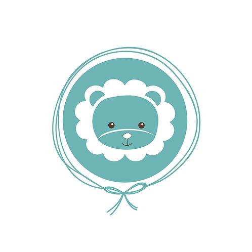 Saída Maternidade Macacão Tricot - Leão