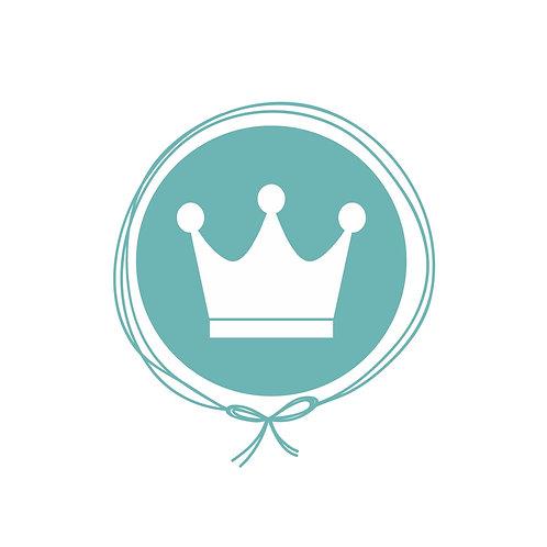 Cueiro em Malha Algodão Jacquard - Coroa