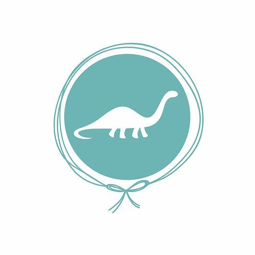 Fronha Solteiro em Algodão Jacquard - Dinossauro