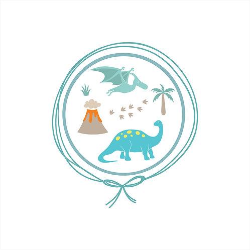 Toalha de Capuz Plush com toalha fralda - Parque dos Dinossauros