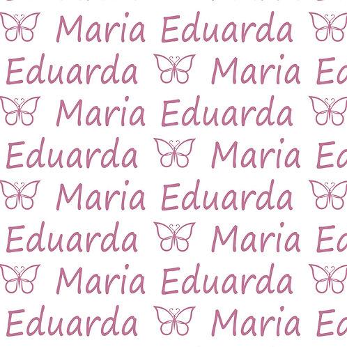 EXPRESS - Manta Plush Bebê - Maria Eduarda / Borboleta