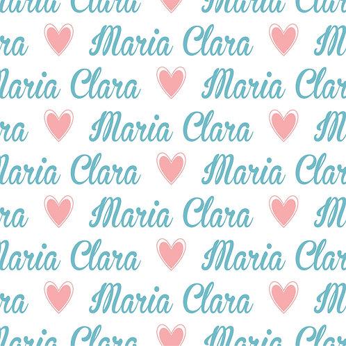 EXPRESS - Kit Plush Manta + Naninha com Urso - Maria Clara / Coração