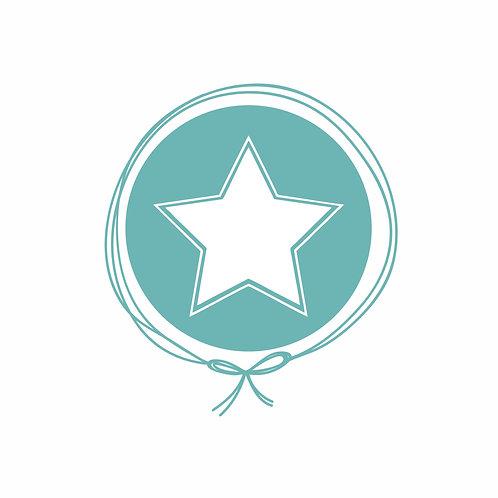 Boneca com Vestido Personalizado - Estrela