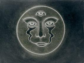 romantic full moon sacred love third eye fine art flower of life