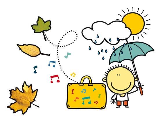 Andantino unterm Regenschirm