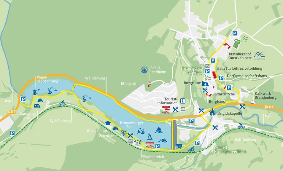 Kartenübersicht Kronenburger See