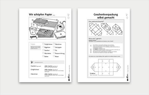 Auswahl Aufbau Arbeitsblätter