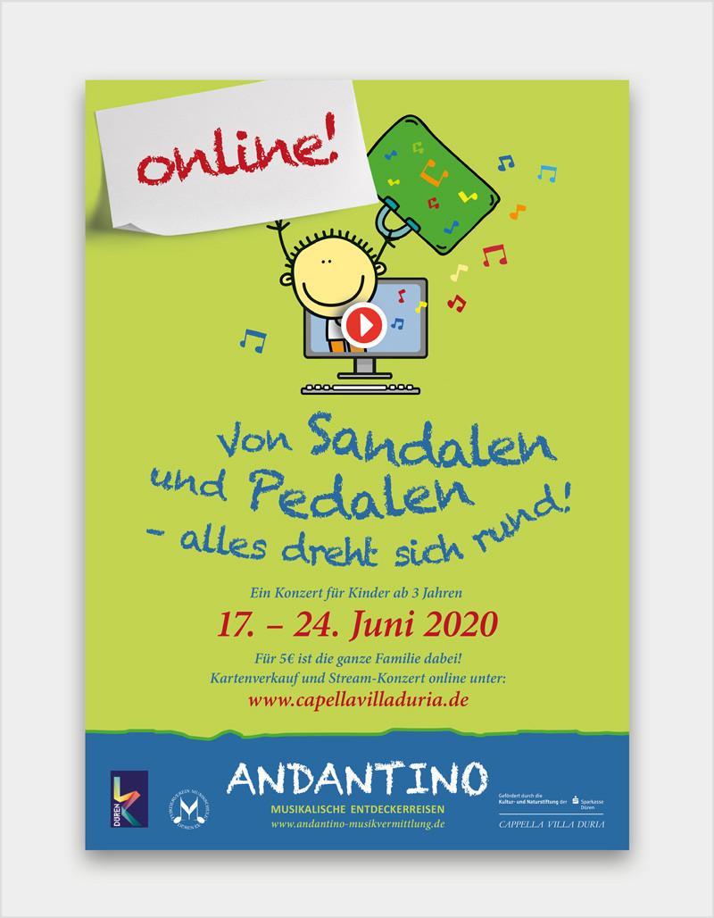 Onlinekonzert-Plakat