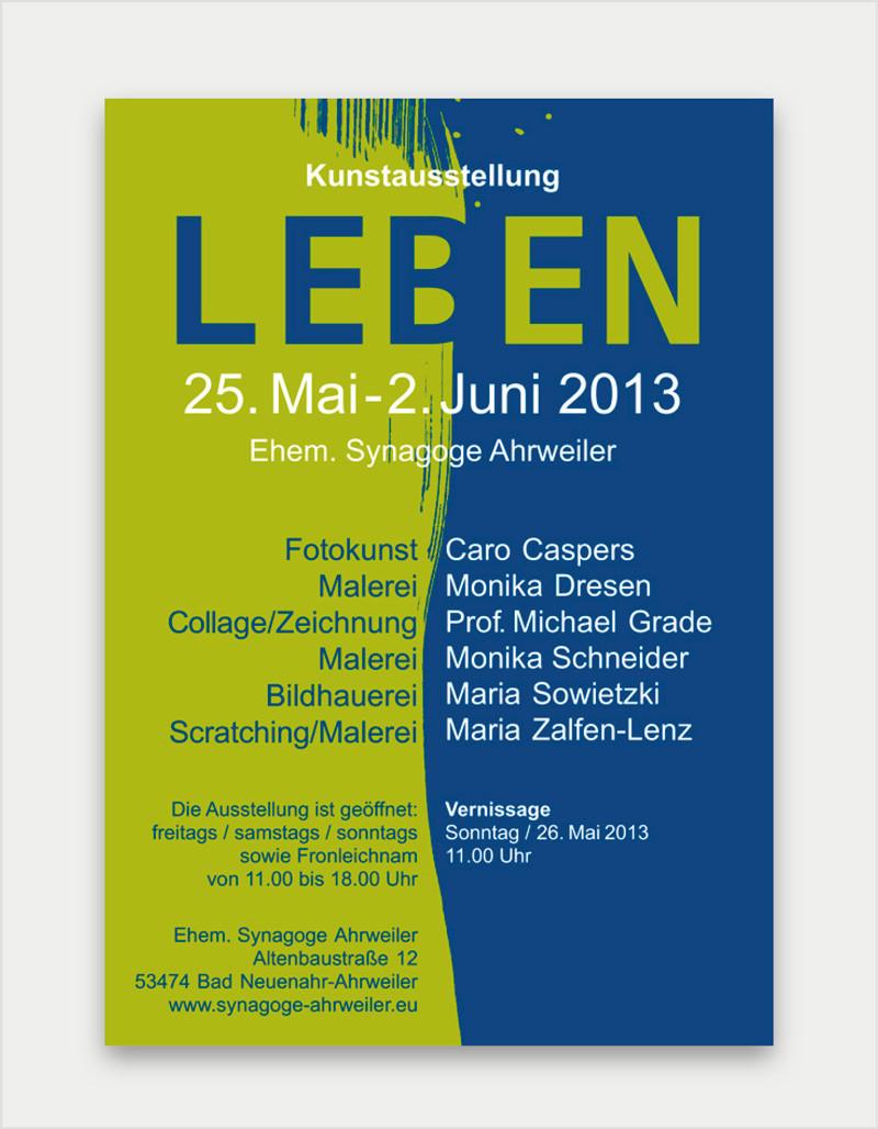 Plakat zur Kunstausstellung