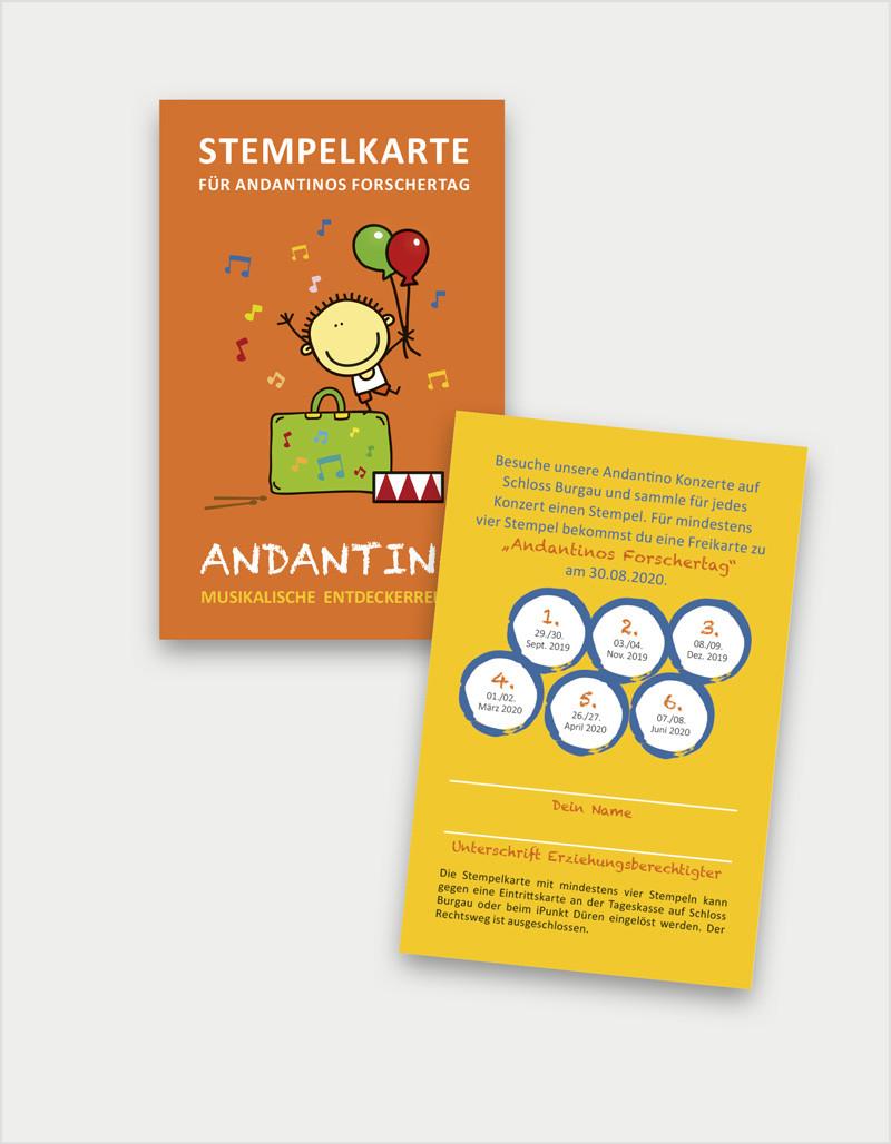 Andantino Konzert-Stempelkarte