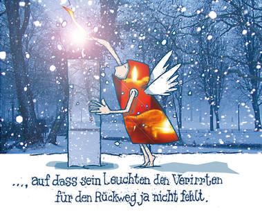 "Kartenmotiv ""Lichtweg"""