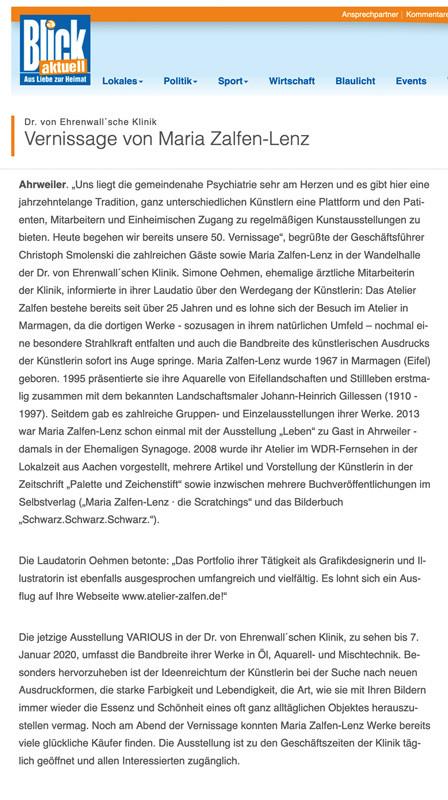 Blick aktuell Ahrweiler Oktober 2019