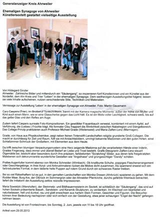 Generalanzeiger Ahrweiler 29.05.2013