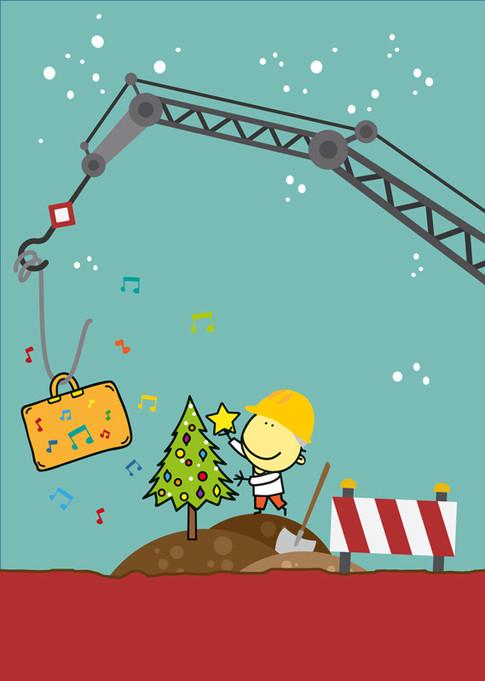 Andantino feiert Weihnachten auf de Baustell