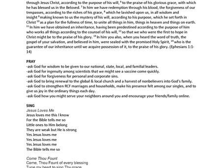 Family Worship Liturgy (4/19/20)