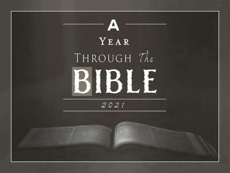 2021: A Year Through The Bible