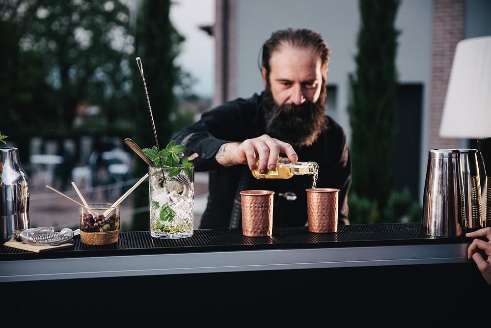 Bancone bar per feste in giardino