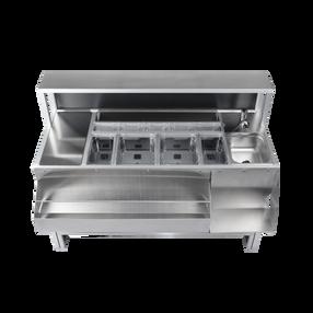 Workstation barman indistruttibile acciaio inox alluminio