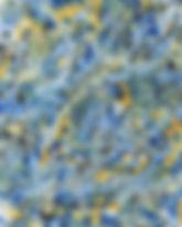 Blue Yellow Painting Symbolizing THC leaning 'Energize' Cannabis