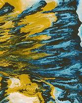 Blue Yellow Painting Symbolizing THC dominant 'Rest' Cannabis