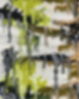 Green and black painting symbolizing CBD dominant 'restore' strains