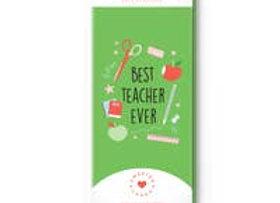 Teacher Appreciation Card with Chocolate Inside