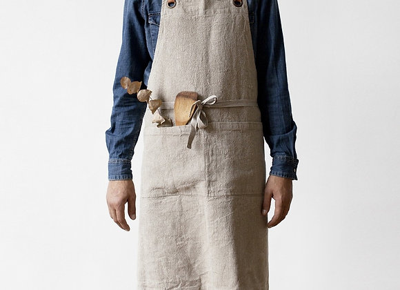 Natural Washed Linen Luxury Apron