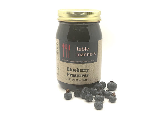 Table Manners Blueberry Preserves