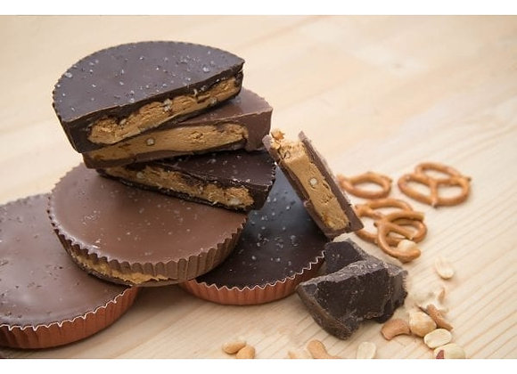Peanut Butter Cup with Salted Pretzel