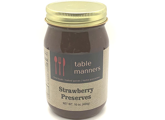 Table Manners Strawberry Preserves