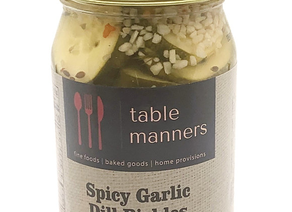 Table Manners Thin & Spicy Dill Pickle Slices