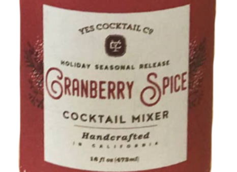 Holiday Cranberry Spice Cocktail Mixer