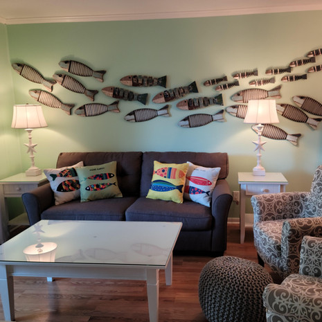 Our fish-themed living room
