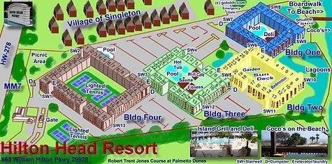 Aerial image of resort
