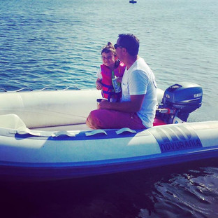 Daddy Daughter Dinghy Ride