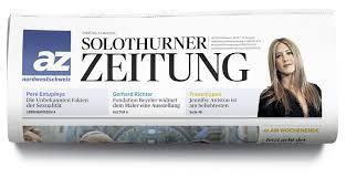 """Bericht aus """"Solothurner Zeitung"""""""