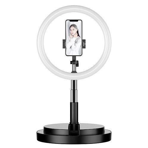 LED selfie Tripé 52 - 170 cm com suporte para telefone preto