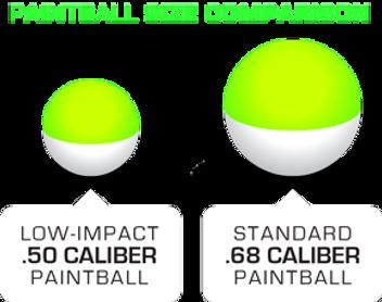 Low-Impact-Paintballs Size Comparison.pn