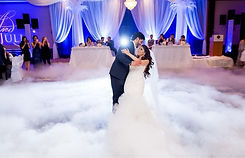 Dry Ice floor with couple dancing