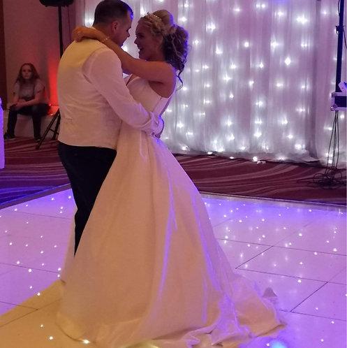 Bride and Groom on LED Sparkle Dance Floor