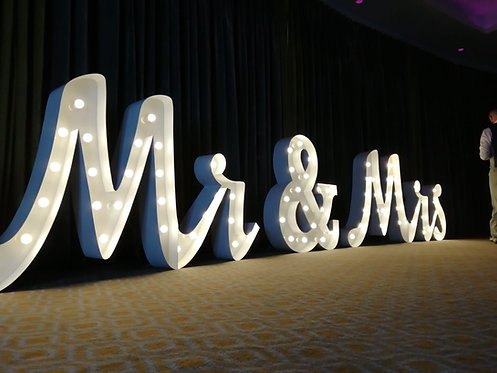 Giant Mr and Mrs Letters
