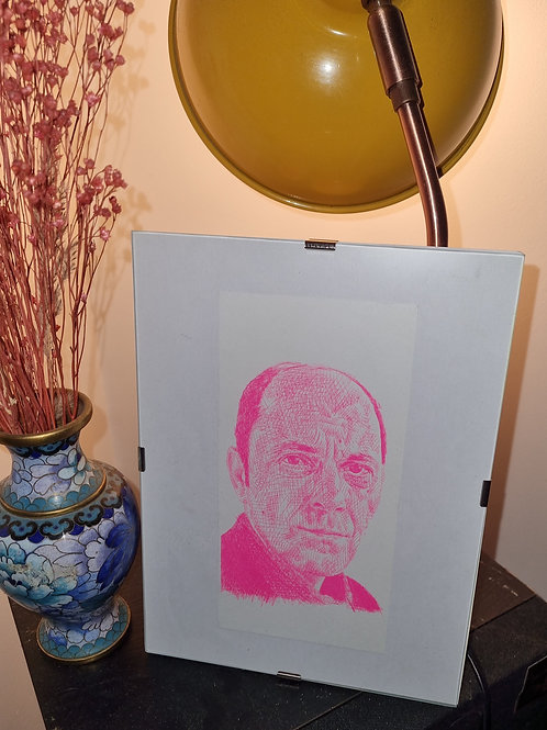 """""""Jean-Pierre"""" Risographed Drawing"""