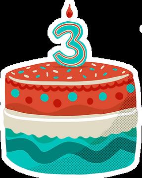 Cake 3Y Sticker.png