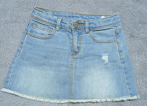 Saia jeans infantil Zara