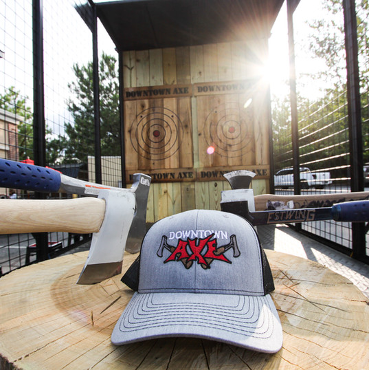 Copyright of The Downtown Axe -- axe throwing venue in Dallas, GA