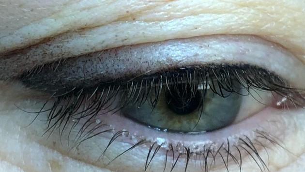 silmänrajaukset varjostus tekniikkalla