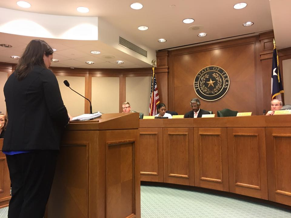 Testifying before the Texas House of Representatives