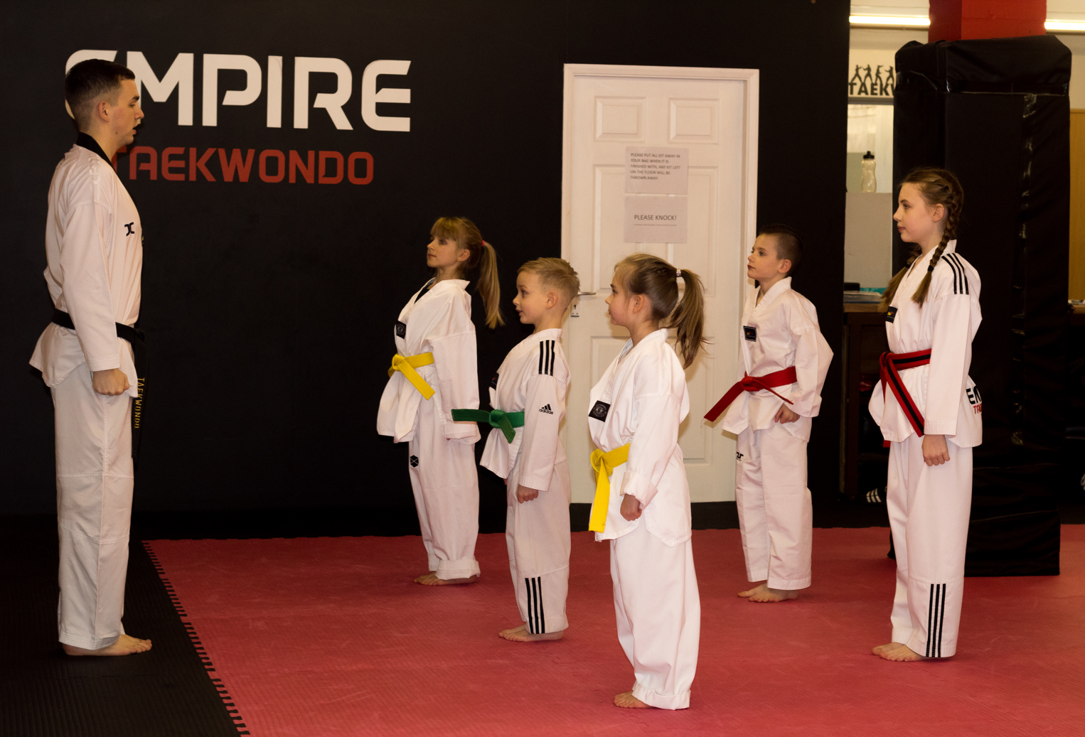 Taekwondo class being held