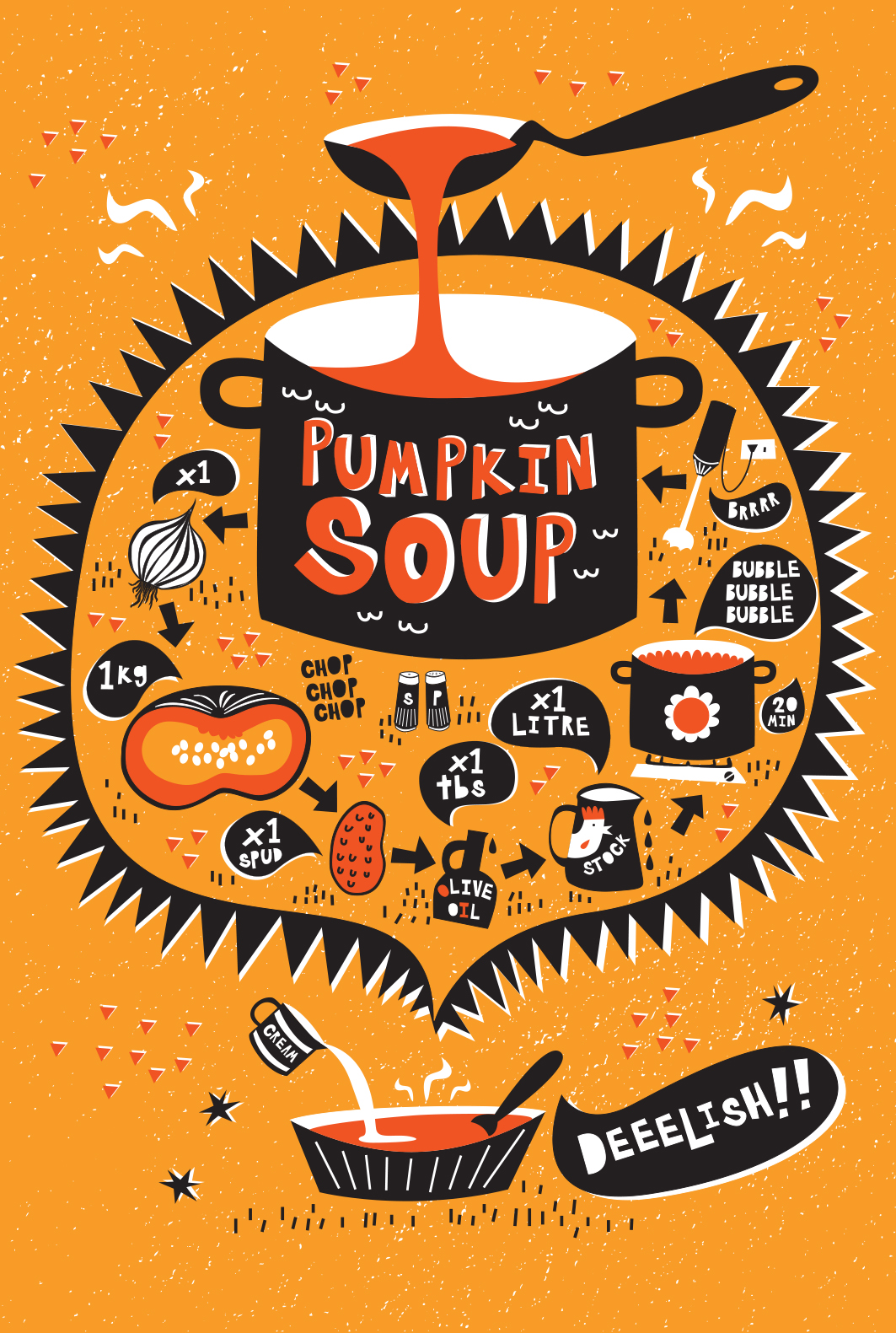 Pumpkin Soup illustrated recipe